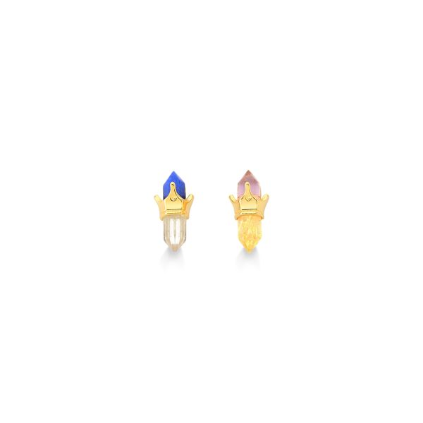 Brinco-Princesas---Ametista-Citrino-Cristal-e-Quartzo-Azul-Anil---Colecao-Disney-Princesa-Maria-Dolores