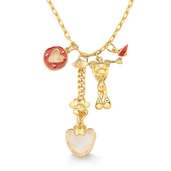 Colar-Disney-Love---Cristal-e-Esmalte-Vermelho---Colecao-Welcome-Love